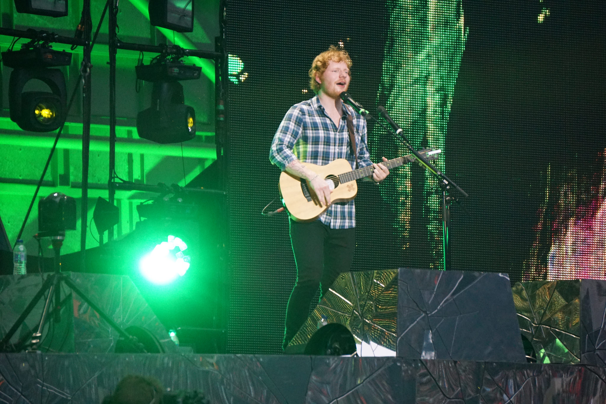 Ed Sheeran at Tuned Rocks Stream of the Day
